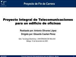Proyecto Integral de Telecomunicaciones para un edificio de oficinas