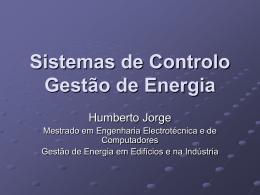 No Slide Title - Laboratório de Gestão de Energia
