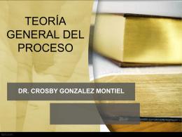 Diapositiva 1 - Dr. Crosby González Montiel