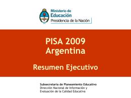 PISA 2009 Argentina