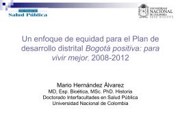 Mario Hernandez - CID - Universidad Nacional de Colombia