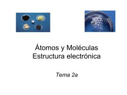 Tema 2a Atomos y Moleculas