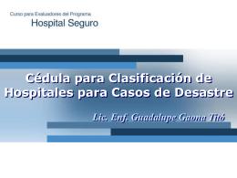 clasificación de hospitales para casos de desastre