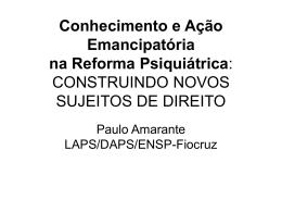 ARTE E CULTURA NA REFORMA PSIQUIÁTRICA