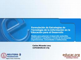 MIRANDA, C. Formulación de estrategias TIC para el