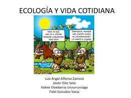 ECOLOGÍA Y VIDA COTIDIANA