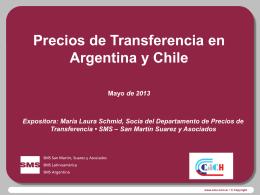 precios de transferencia mayo 2013