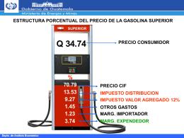 estructura porcentual del precio de la gasolina superior precio