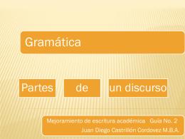 Conceptos mínimos de gramática
