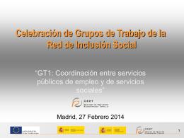Los Servicios Sociales - Red de Inclusión Social