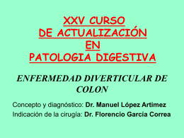 enfermedad diverticular de colon