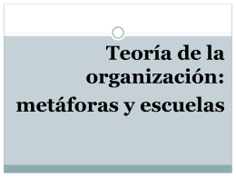 Teoría de la organización: metáforas y escuelas