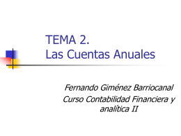 TEMA 4. El sistema informativo contable