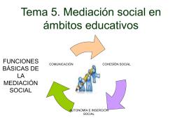 Tema 5. Mediación social en ámbitos educativos