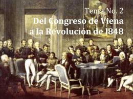 Tema No. 2 Del Congreso de Viena a la Revolución del 48