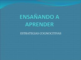 ENSAÑANDO A APRENDER - HAA-FCE
