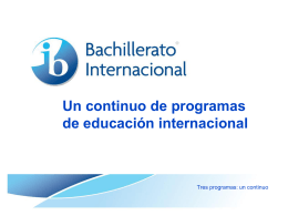 Continuum_es - CIEDI IB World School