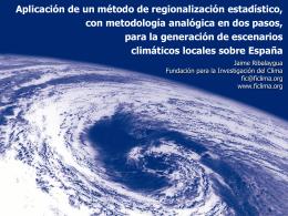 Aplicación de un método de regionalización estadístico, con