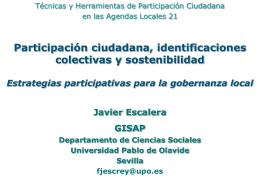 (Técnicas y herramientas de participación ciudadana en las A21L)