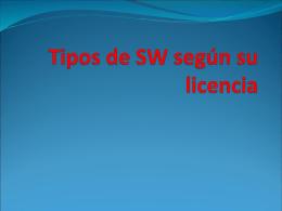 Tipos de SW según su licencia - ies jaime vera