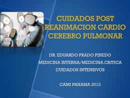 Cuidados Post Reanimacion cardio pulmonar