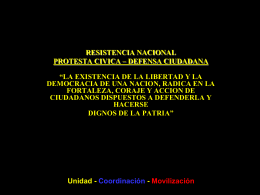 resistencia nacional protesta civica – defensa ciudadana