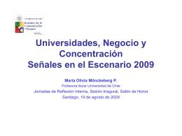 Universidades, Negocio y Concentración, Señales en el Escenario