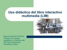 Uso didáctico del libro interactivo multimedia