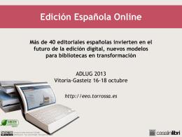 Edición Española Online