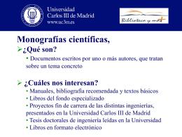 3. Monografías científicas - Universidad Carlos III de Madrid