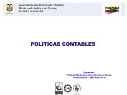 Politicas Contables - Superintendencia de Notariado y Registro