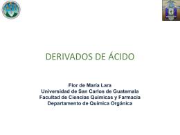 Derivados de Ácido QOII 2014 - Departamento de Química Orgánica