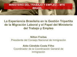 MINISTERIO DEL TRABAJO Y EMPLEO – MTE BRASIL La