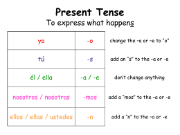Present Tense: To express what happens - betontes-spanish