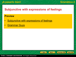 Subjunctive with expressions of feelings