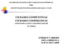 competividad de las ciudades mexicanas