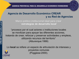 CREAR Desarrollo Local