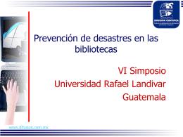 Prevención de Desastres - Universidad Rafael Landívar