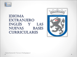 Idioma Extranjero Inglés y las nuevas Bases