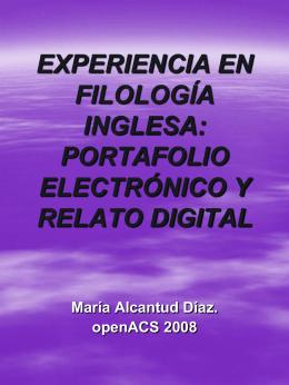 Experiencia en Filología Inglesa: Portafolio Electrónico