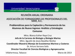UV Biologia_Marina - Facultad de Ciencias Marinas