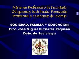 Máster en Profesorado de Secundaria Obligatoria y Bachillerato