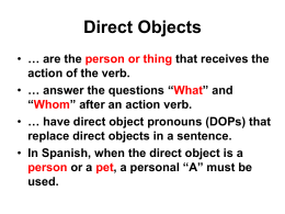 have direct object pronouns