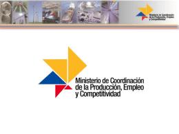 ministerio de coordinación de la producción, empleo y competitividad