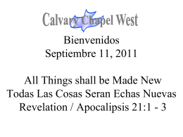 Revelation 21:3 - Calvary Chapel West