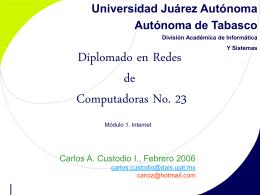Generalidades - Página del Diplomado en Redes de Computadoras