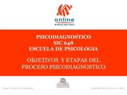 Objetivos y Etapas del Proceso Psicodiagnóstico