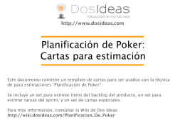 Planificación de Poker - Cartas