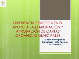 Experiencia Elaboración Cartas Organicas