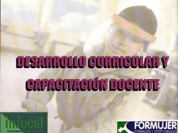 DESARROLLO CURRICULAR Y CAPACITACIÓN DOCENTE